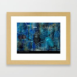 Cicada Insect Abstract Art Print  Framed Art Print
