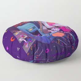 Synth Arcade Floor Pillow