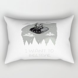 I Want To Believe in Kang and Kodos Rectangular Pillow