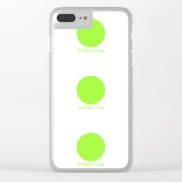 French Lime Clear iPhone Case