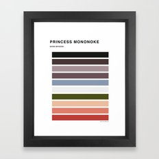 The colors of - Princess Mononoke Framed Art Print