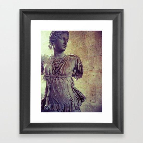 Flowing stone Framed Art Print