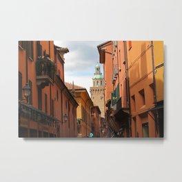 Bologna Streets Metal Print