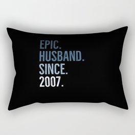 Epic Husband Since 2007 Rectangular Pillow