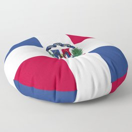 Dominican Republic flag emblem Floor Pillow