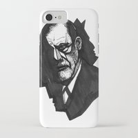 freud iPhone & iPod Cases featuring Sigmund Freud by Chuchuligoff