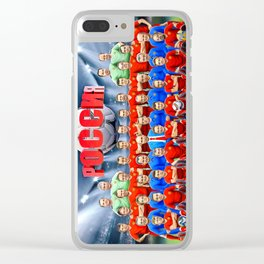 Russian Government Team Clear iPhone Case