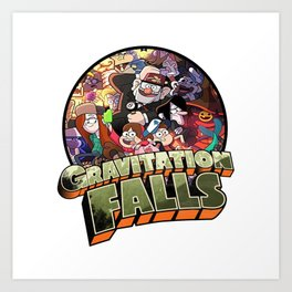gravitation falls family Art Print
