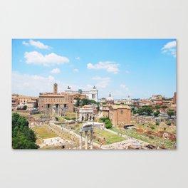 215. Roman Forum View, Rome Canvas Print