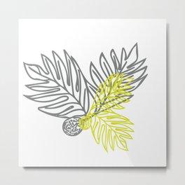 Ulu Forest Green and Grey Metal Print