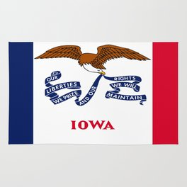 flag of Iowa, america, usa, midwest,Council Bluffs, Iowan,Des Moines,Cedar Rapids,Davenport,sioux Rug