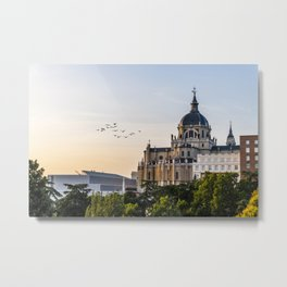 Almudena cathedral of Madrid Metal Print