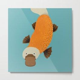 Whimsy Platypus Metal Print