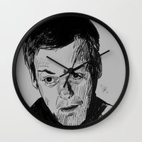 greg guillemin Wall Clocks featuring Greg Lestrade Sketch by Soyarts
