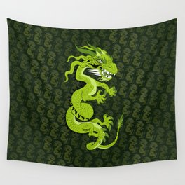 Jade Dragon Wall Tapestry
