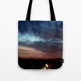 Night Lights Moving Sunset 30 Tote Bag