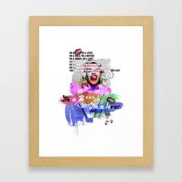 I'm a Bi*ch I'm a Lover, I'm a child I'm a Mother | Lyrics | Music Framed Art Print