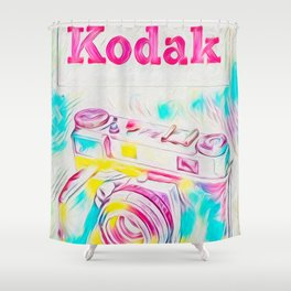Psychedelic Kodak Shower Curtain