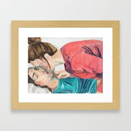 Slow Kiss Framed Art Print