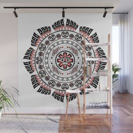 Pacific Northwest Native American Art Mandala Wall Mural