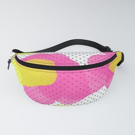 Sarah's Flowers - Abstract Watercolor on Polka Dots Fanny Pack