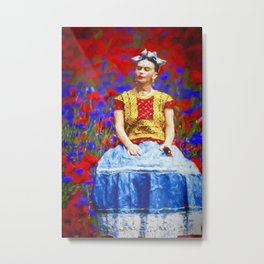 FRIDA dreaming away Metal Print