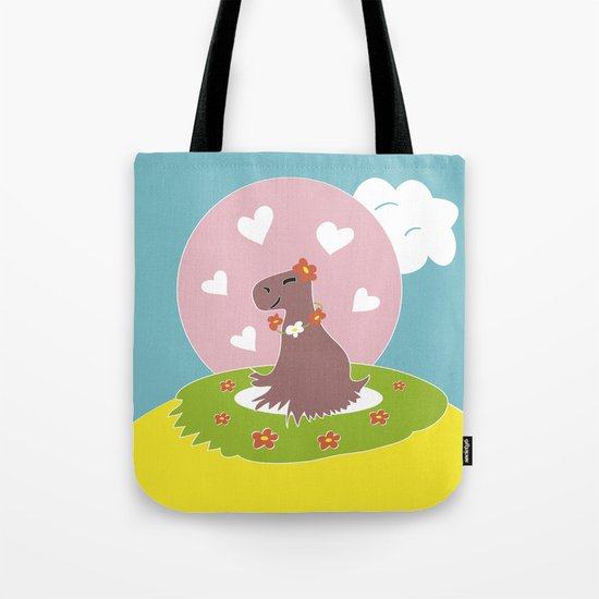 Capybara in Love Tote Bag