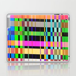 inclined coloured stripes Laptop & iPad Skin