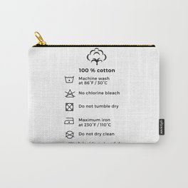 100% Cotton | Laundry Label Carry-All Pouch
