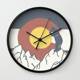 Colorado, the Big Blue Bear and the Rockies Wall Clock