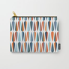 Mid century modern style retro seamless pattern with drop shapes in various color tones Carry-All Pouch