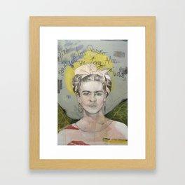 """Frida """"Pies, para que los quiero?"""" Framed Art Print"""