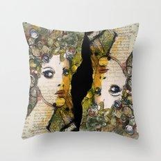 Fragment of a portrait Throw Pillow