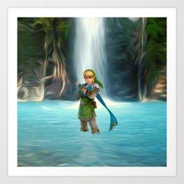 Adventure of Zelda Art Print