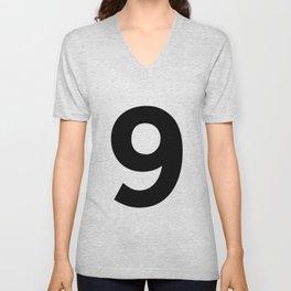 Number 9 (Black & White) Unisex V-Neck
