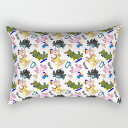 Beachtime Fun Axolotls Rectangular Pillow