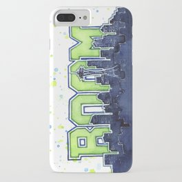 Seattle Legion of Boom Space Needle Skyline Watercolor iPhone Case