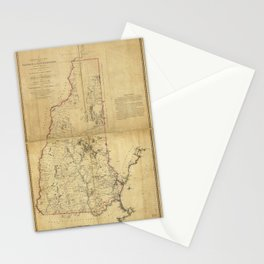 Topographical Map of the Province of New Hampshire (1784) Stationery Cards