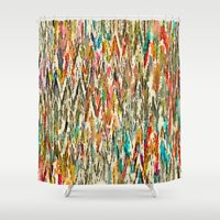 hippy Shower Curtains featuring Hippy Style by thinschi