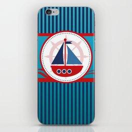 Cool Blue Sailboat Background iPhone Skin