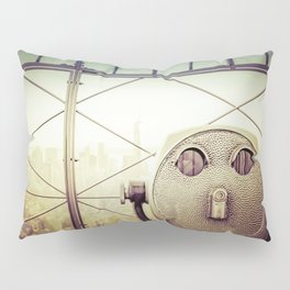 New York City Skyline Tourist Binoculars Pillow Sham