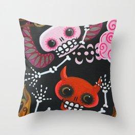 Angel & Devil Throw Pillow