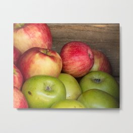 Assorted Red and Green Apples Metal Print