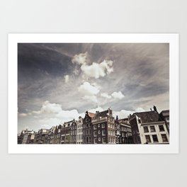 Amsterdam Clouds Two Art Print