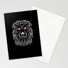 Cooler Löwe Mit Roter Sonnenbrille König Stationery Cards