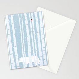 White Wolf, Red Cardinal Stationery Cards