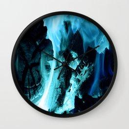 Blue Blaze Wall Clock