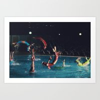 four stages of a backflip Art Print