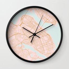 Halifax map, Canada Wall Clock