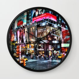 Times Square New York Wall Clock